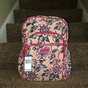 Vera Bradley Campus Backpack In Stitched Flowers